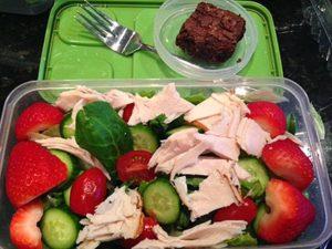 gluten free dairy free lunchbox salad